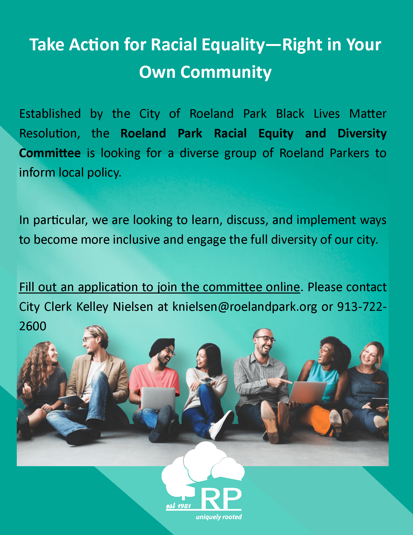 Racial Equity Committee flier